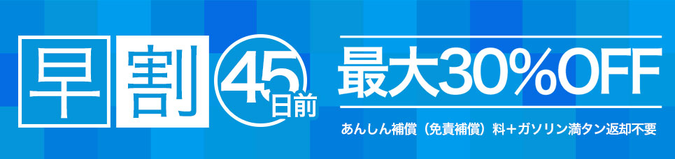 【宮崎空港店限定】 45日前早割!!キャンペーン